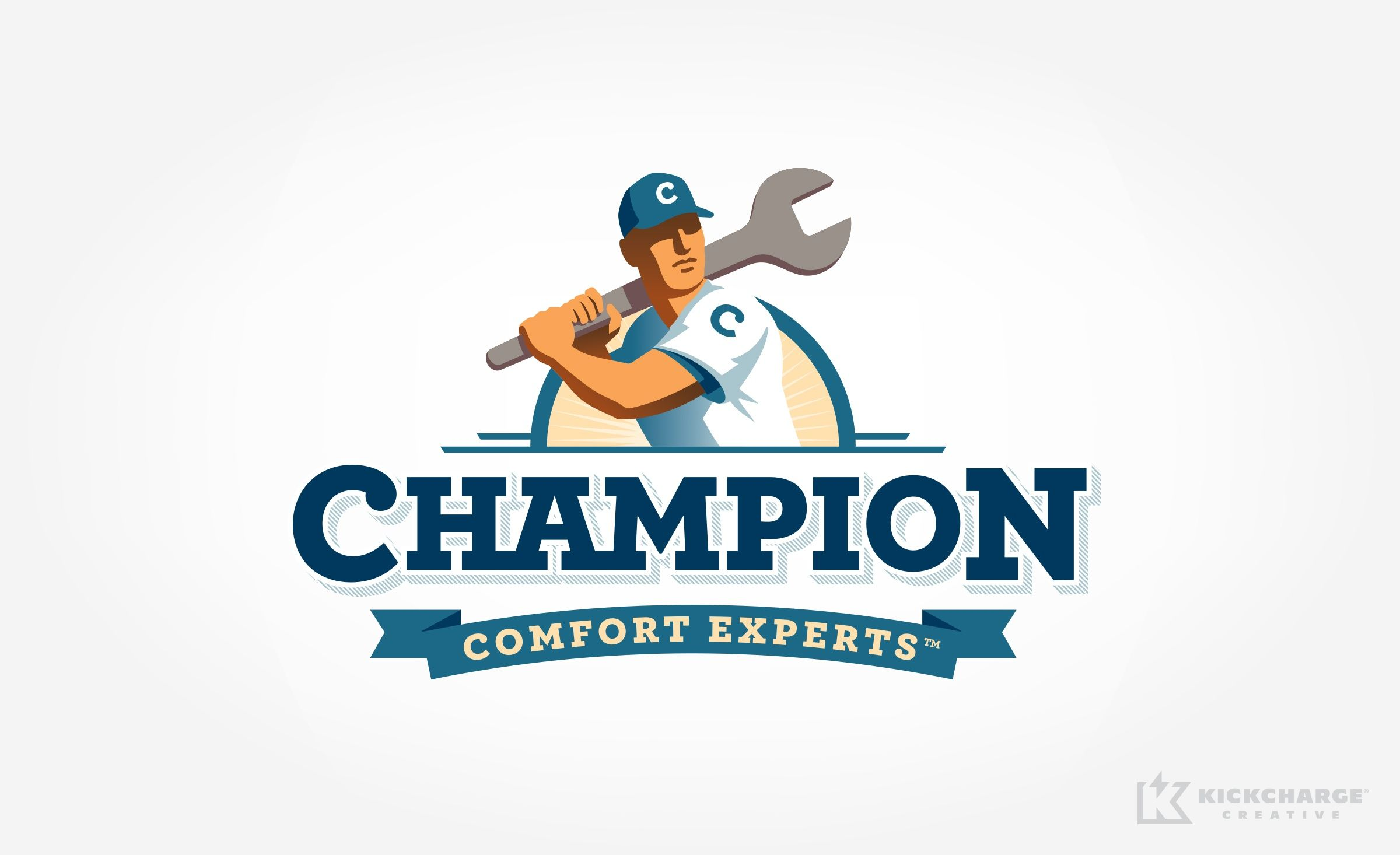 Logo Design For Champion Comfort Experts Nj Advertising Agency