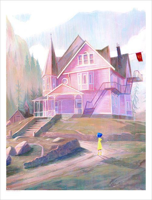 The Pink Palace Print Jennifer Ely Coraline Art Coraline Aesthetic Coraline Jones