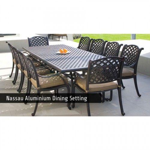 Nassau Cast aluminum dining setting. Nassau Outdoor Furniture ... - Nassau Cast Aluminum Dining Setting Aluminium Outdoor Furniture