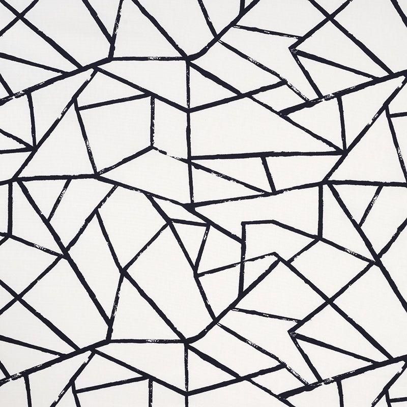 Polygon Jet 30235 102 James Dunlop Textiles Upholstery Drapery Wallpaper Fabrics Fabric Textiles Black White