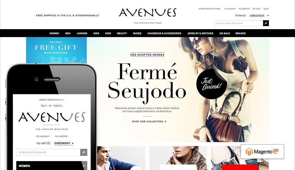 Go Avenues - Responsive Fashion Magento Go Theme: http ...