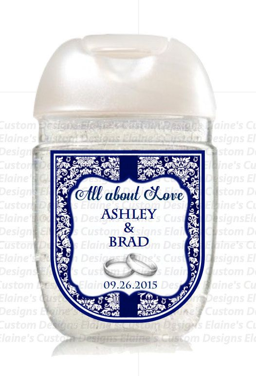 Personalized Hand Sanitizer Favor Labels Baby Shower Favor Labels