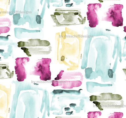 Purple Purple Aqua Abstract Purple Teal Fabric Printed by Spoonflower BTY