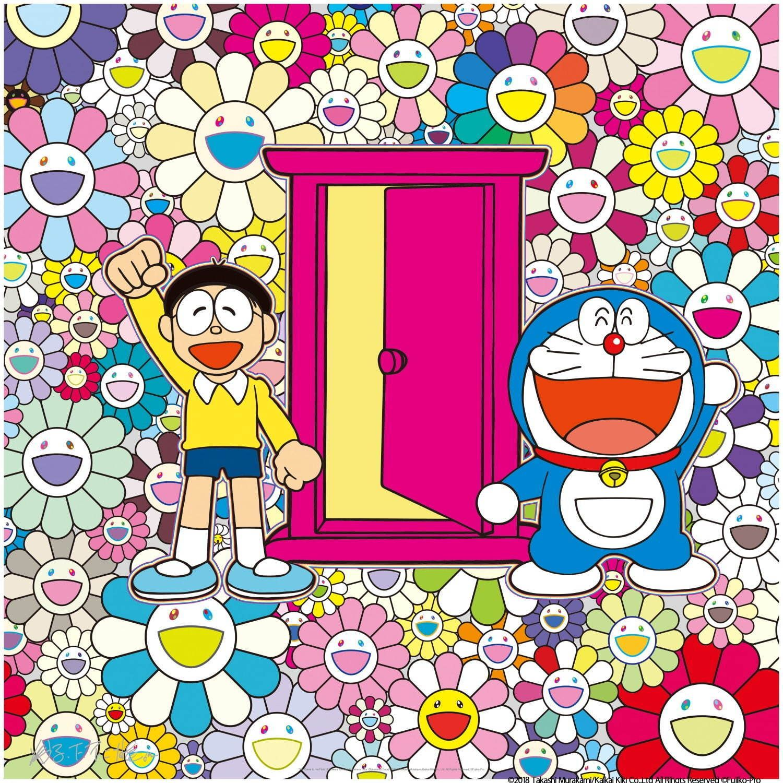 村上隆によるドラえもんの新作版画とポスターが川崎市 藤子 f