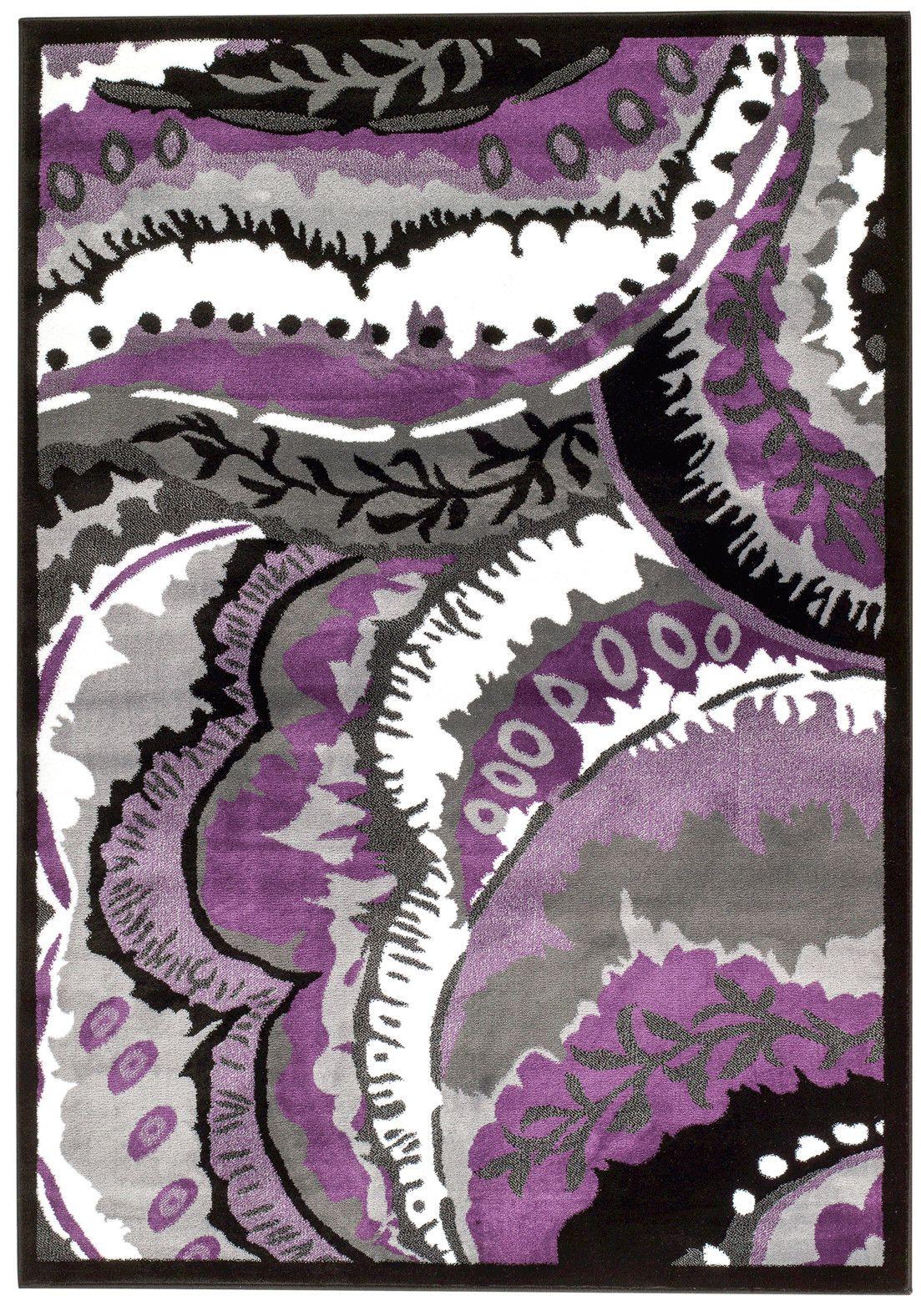 Persian Rugs Modern Purple Area Rug Reviews Wayfair