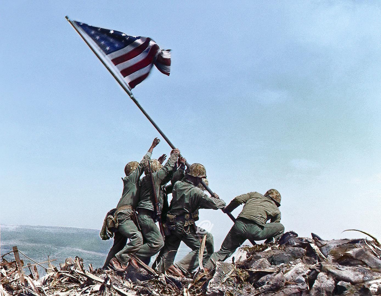 Raising The Flag On Iwo Jima Battle Of Iwo Jima Iwo Jima Flag Iwo Jima