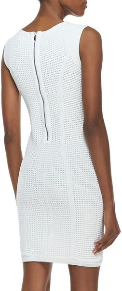 Grid Stitch Techno Sleeveless Dress @Lyst