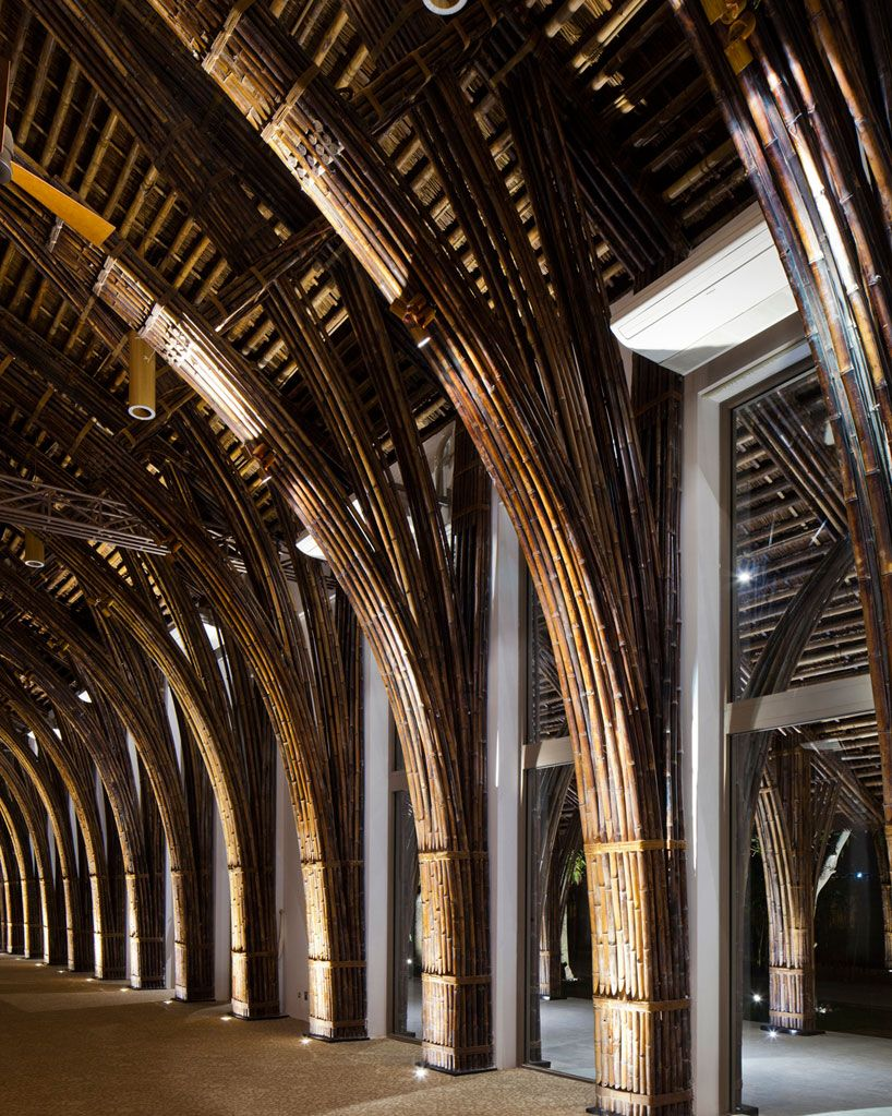 naman retreat conference hall vo trong nghia architects vietnam bamboo structure