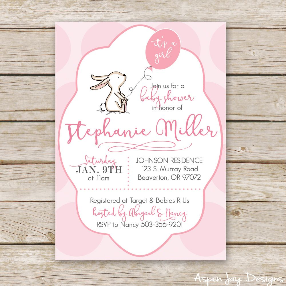 Bunny Baby Shower Guest Book Printable Bunny and Babies