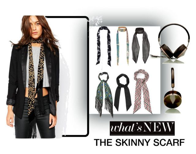 """The Skinny Scarf"" by experienceheadphones ❤ liked on Polyvore featuring Express, Rockins, Gucci, Henri Bendel and Jayley"