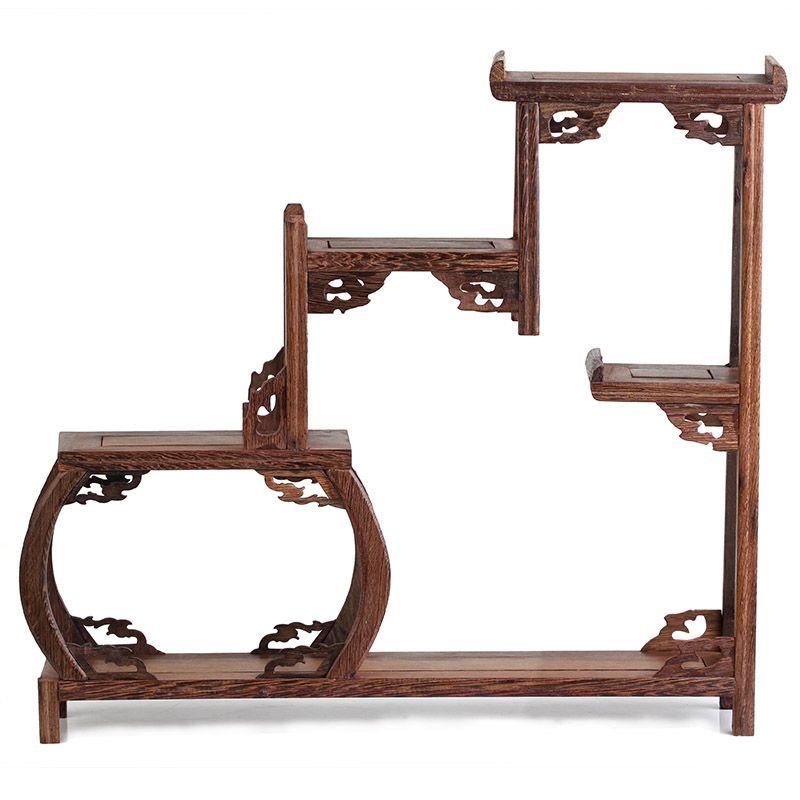 modern Chinese style   Modern chinese style wenge solid wood shelf decoration small ...