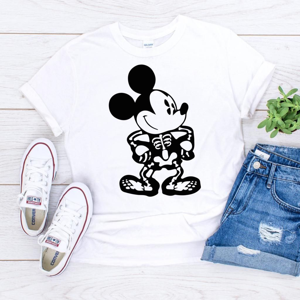 Disney Halloween Shirts For Kids.Disney Halloween Mickey Mouse Skeleton White Orange Black Unisex Shirt For Adults Girls Bo Disney Halloween Shirts Disney Trip Shirts Funny Halloween Shirt