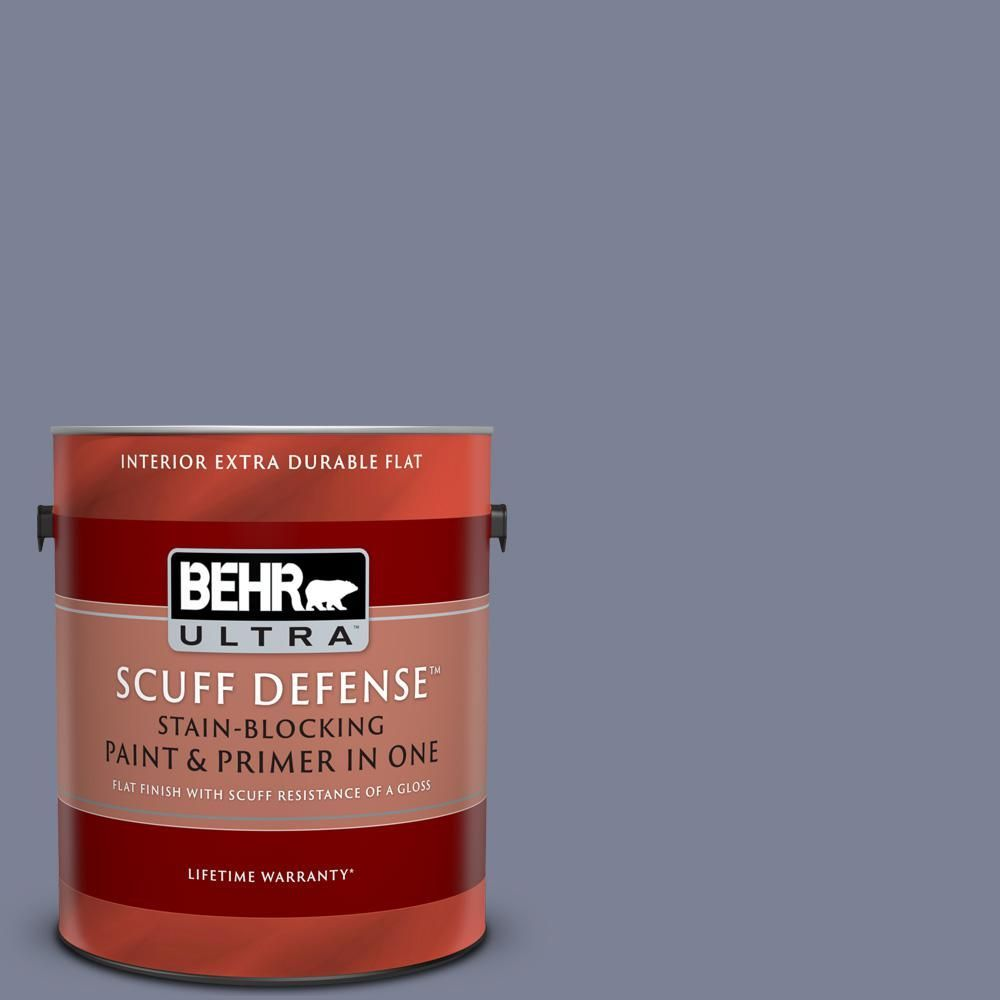 Behr Ultra Scuff Defense 1 Gal 610f 6 Deep Smoke Signal Extra Durable Flat Interior Paint And Primer In One 610f6 Be Behr Ultra Durable Flats Interior Paint