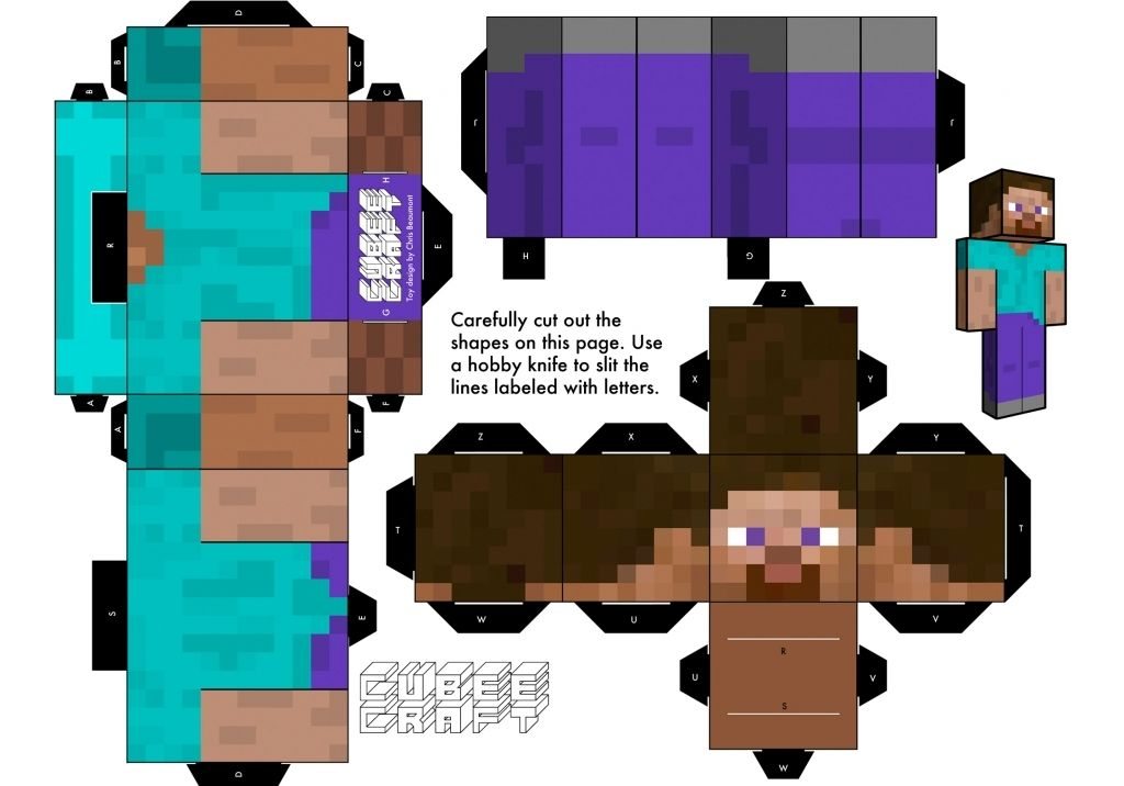 how to build steve in minecraft pe