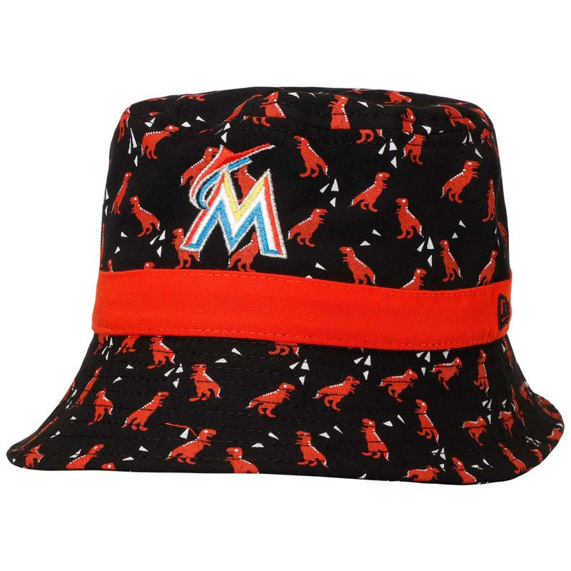 on sale 0912f 2cd60 Miami Marlins New Era Infant Dino Bucket Hat - Black