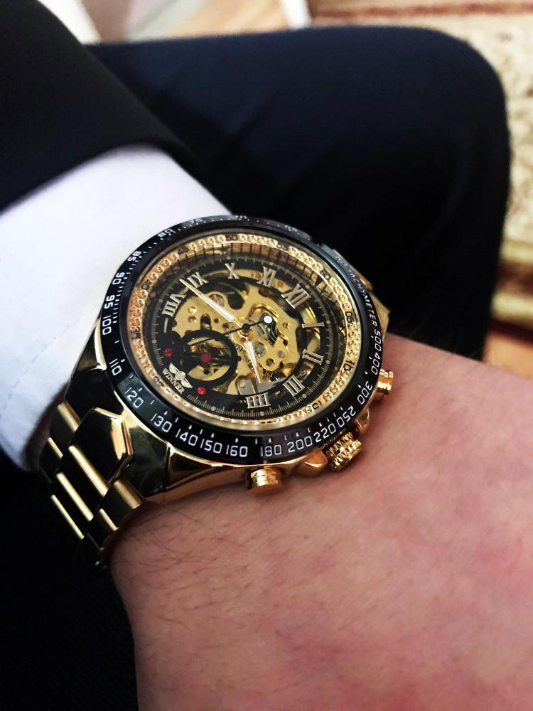 Men S Sports Design Bezel Golden Watch Watches Jewellery Men S Watches Fossil Mechanical W Skeleton Watches Fossil Watches For Men Vintage Watches For Men