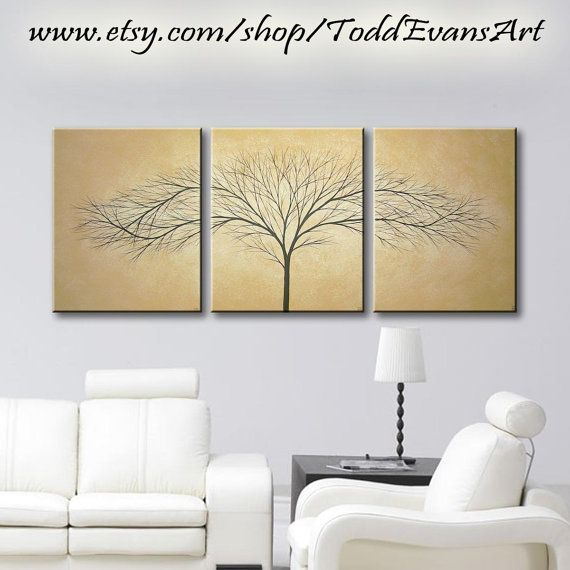 48x20 inches Original Artwork 3 Piece Wall art, set Large Canvas ...