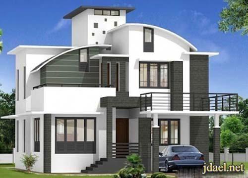 واجهات فلل صغيره بتصاميم راقيه في السعوديه منتدى جدايل House Front Design House Design Farm House Living Room