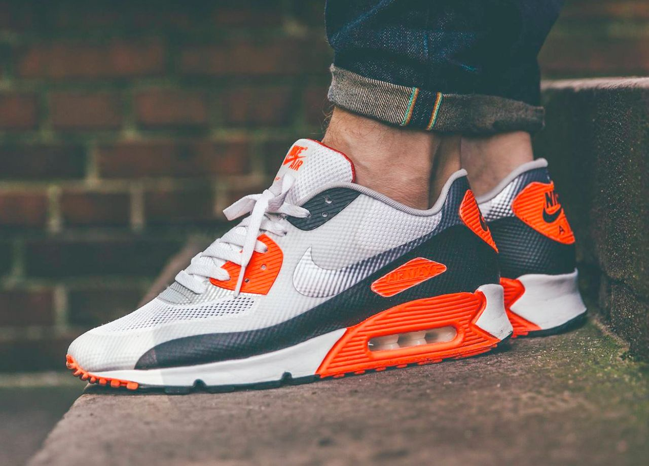 inexpensive nike air max 90 hyperfuse infrared on feet b0bf9