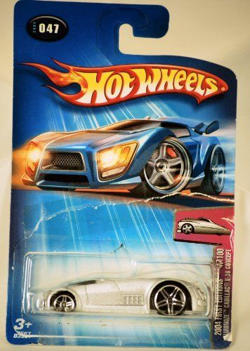 2004 - Mattel - Hot Wheels - 047 - Model #B3567 - First Editions - Hardnoze Cadillac V-16 Concept - Die Cast Metal - New - Collectible by Mattel. $0.01. First Editions - 47/100 - Silver. 1:64 Scale - Die Cast Metal. Hardnoze Cadillac V-16 Concept Car. New - Card is bent and torn - Collectible. 2004 - Mattel - Hot Wheels. 2004 - Mattel - Hot Wheels - #047 - Model B3567 - First Editions  #47/100 - Hardnoze Cadillac V-16 Concept - Silver - Card is bent & torn, repaired with tape - ...