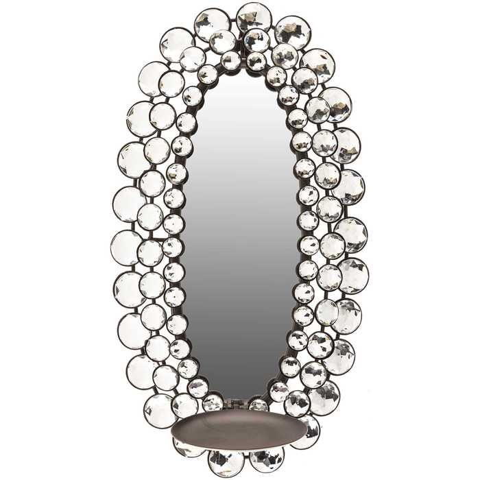 Silver Rhinestone Mirror Wall Sconce   Hobby Lobby ... on Wall Sconces Hobby Lobby id=41172
