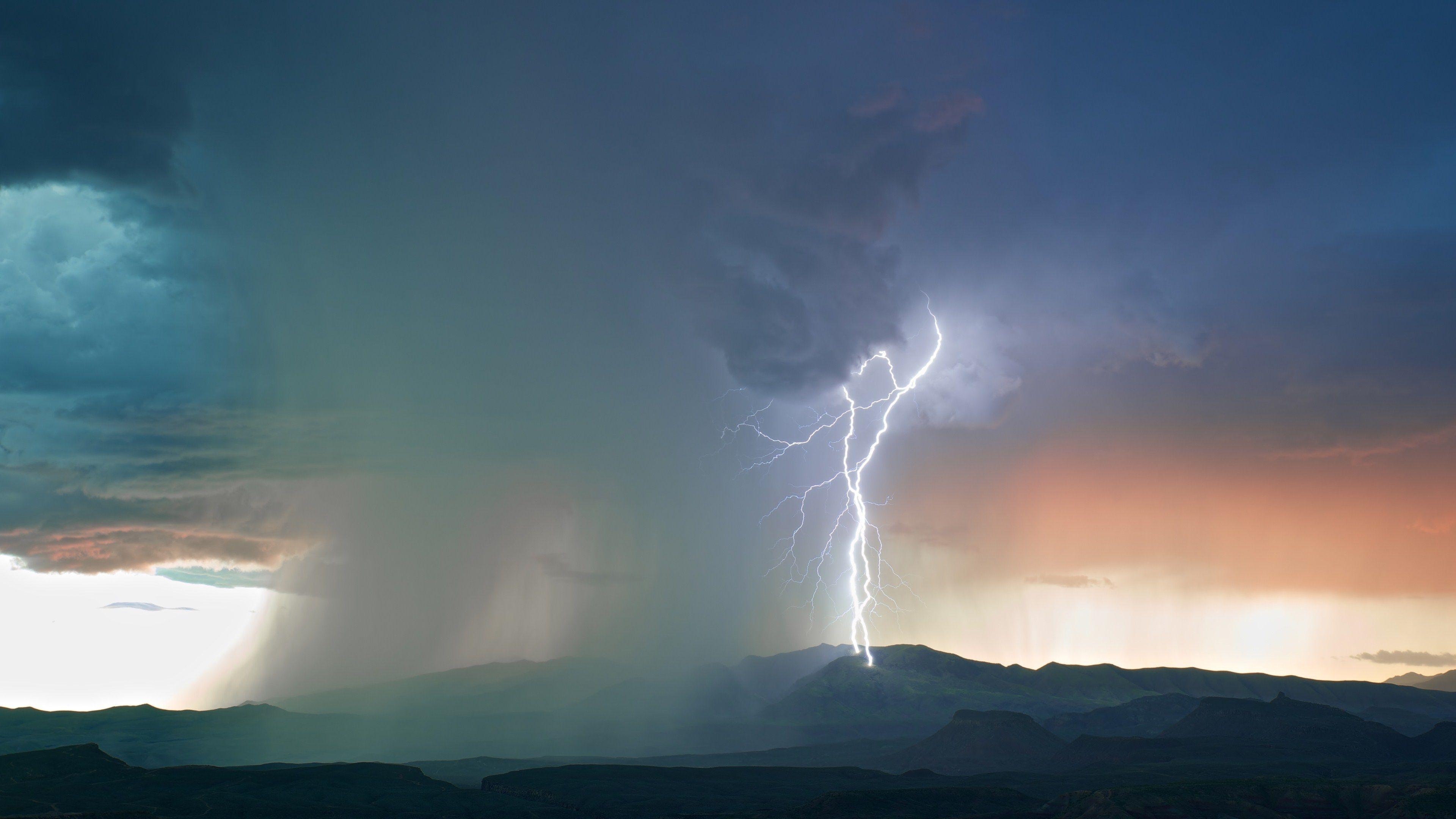 Lightning For Desktop Hd Storm Wallpaper Clouds Landscape