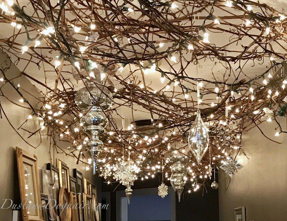 Magical Lighted Hallway For Christmas Christmas Lights Ceiling