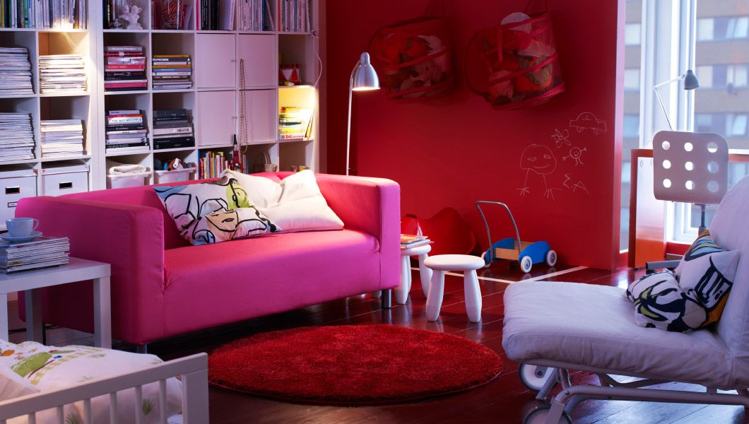 ikea sterreich inspiration wohnzimmer klippan 2er sofa mit bezug gran n in rosa ikea ps. Black Bedroom Furniture Sets. Home Design Ideas