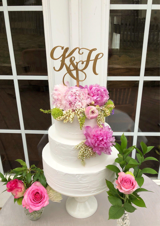 Initials cake topper two initials cake topper two