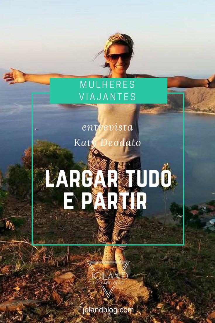 Uma entrevista à viajante Katy que, após 3 meses de voluntariado em Timor, percorre agora o mundo com o marido, sem data de regresso.
