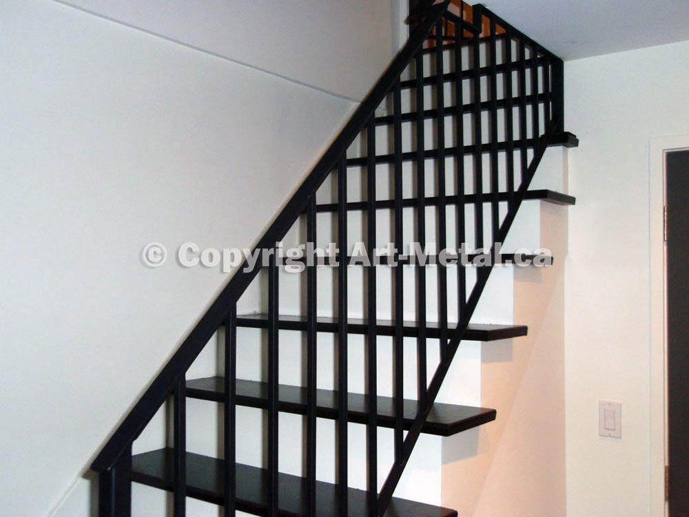 Interior & Indoor Stair Iron Railings, Handrails, Designs