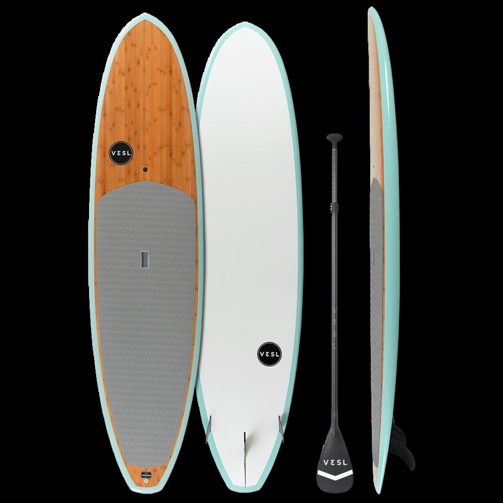 Vesl Bamboo Eco Series 11 0 Paddle Board Package Sea Foam