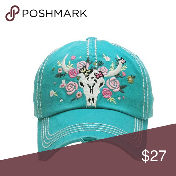20% off SALE! Vintage style embroidered hat