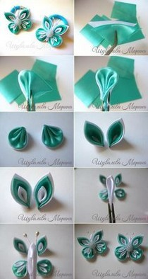 How to make embroidery ribbon flowers for beginner 14 - www.Mrsbroos.com #ribbonflower