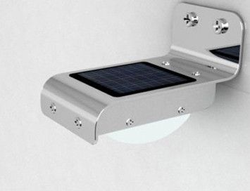 Stainless steel solar wall mount motion sensor led lumen