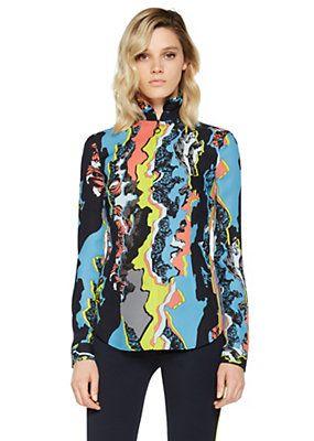 Versace - Camicia in seta Jagged Baroque