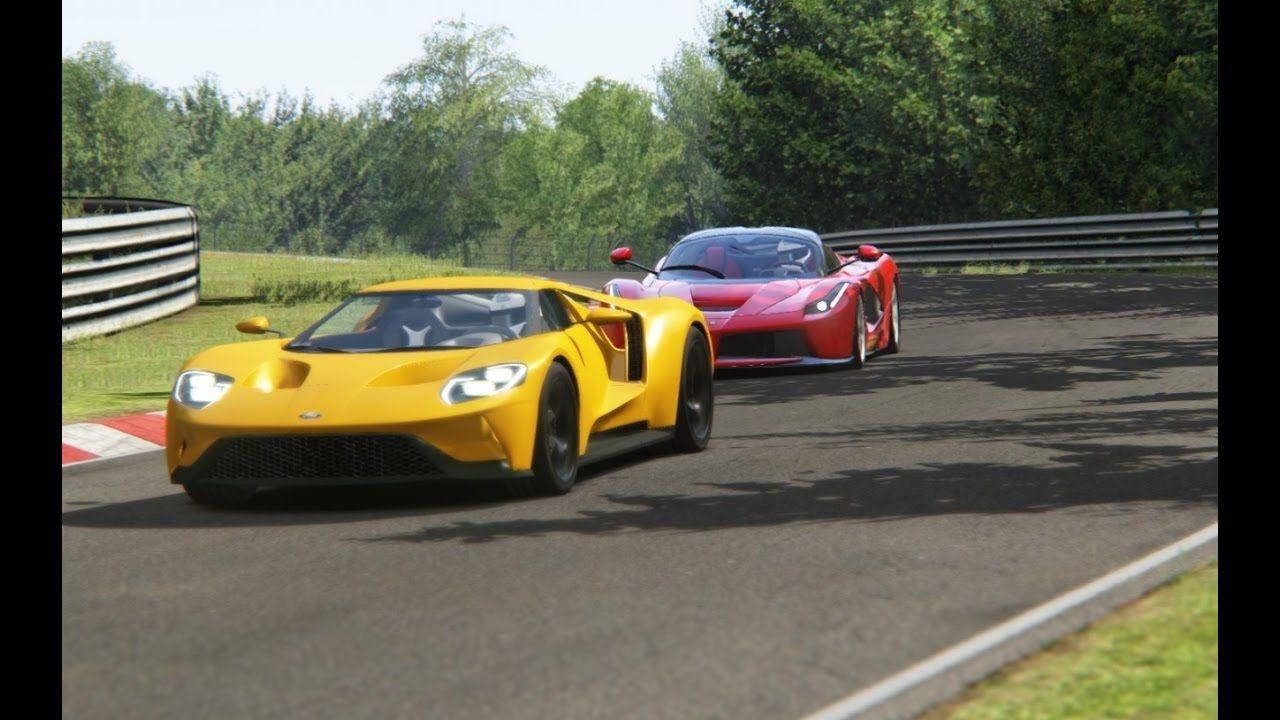 Battle Ford Gt X Ferrari Laferrari Racing At Nurburgring Nordschleife