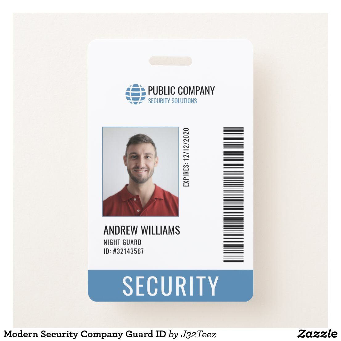 Create Your Own Badge Zazzle Com In 2021 Id Card Template Company Id Id Design