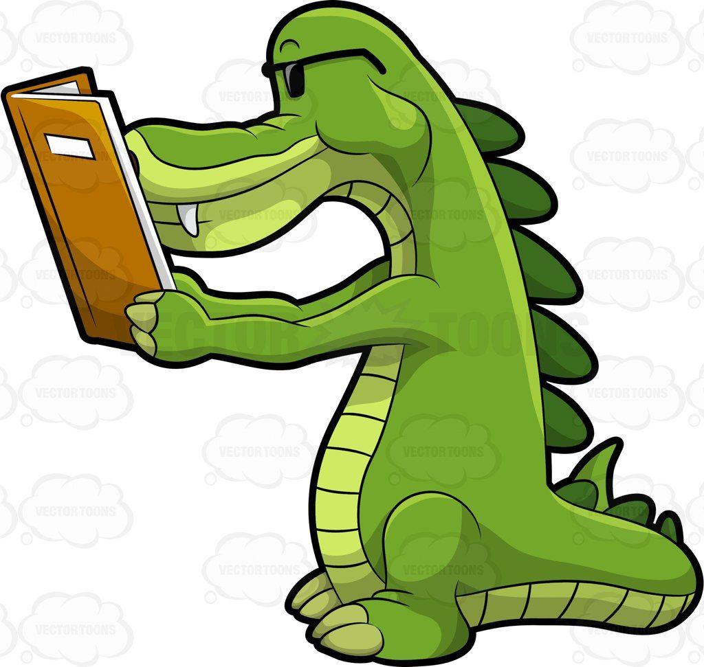 Arthur The Alligator Reading A Book Cartoon Clip Art Character Design Animation Alligator