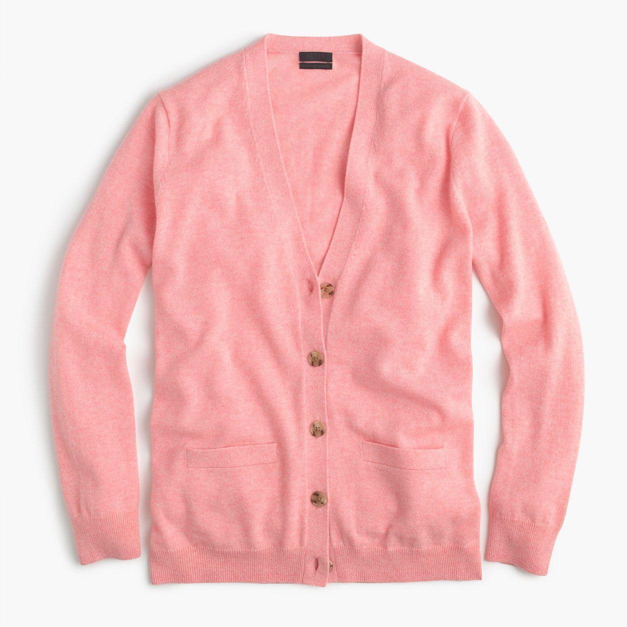 J.Crew Womens Italian Cashmere Boyfriend Cardigan Sweater (Size X ...