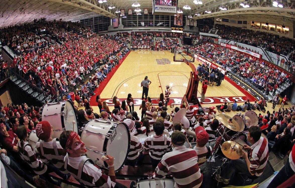 Pep band at Leavey Center scu broncos basketball