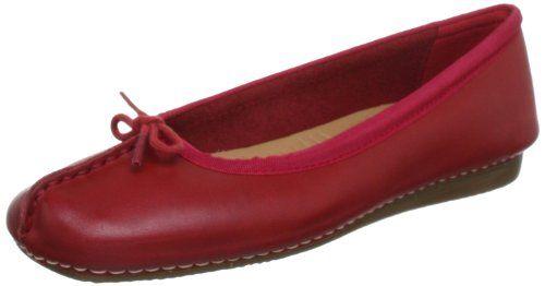 Clarks Freckle Ice, Damen Geschlossene Ballerinas, Rot (Coral Leather), 40  EU - http://geschirrkaufen.online/clarks/40-eu-clarks-freckle-ice-damen-…