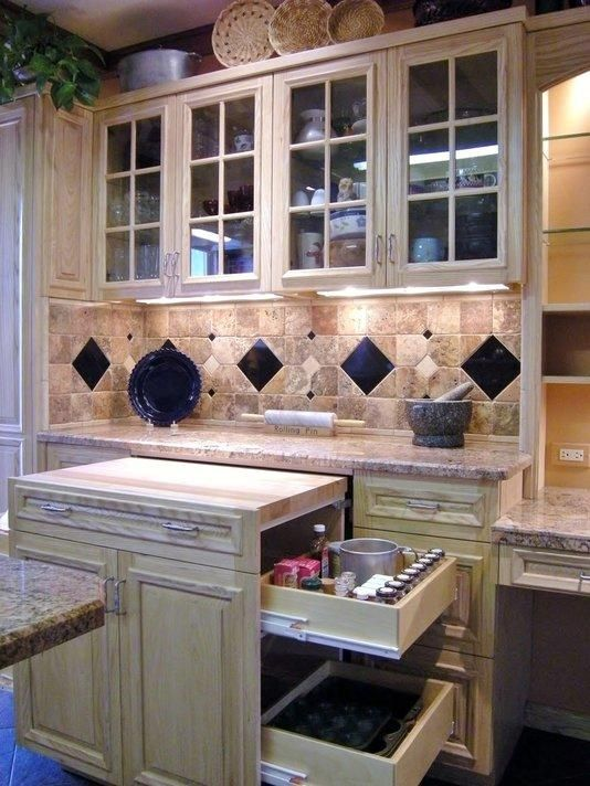 A Custom Baking Center With Everything Within Reach In This Well Designed  Updated Kitchen.
