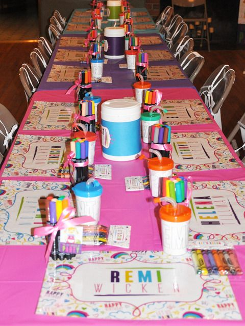 Arts Crafts Birthday Party Ideas Art Party Art Party Party