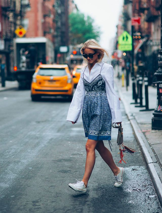 5c9c8d0b1bc slip dress-sneakers and dresses-shirt under dress-summer work outfit-