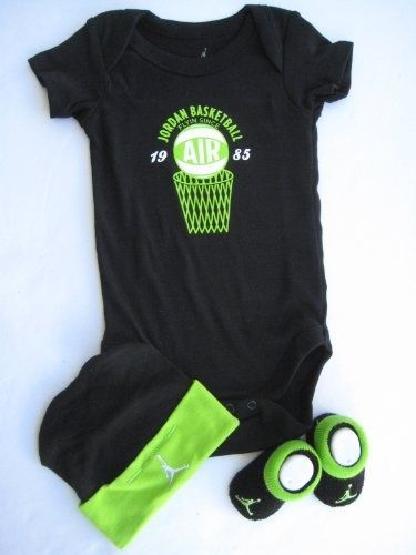 f48188abc Nike Jordan Infant New Born Baby Boy Girl Shoulder Bodysuit