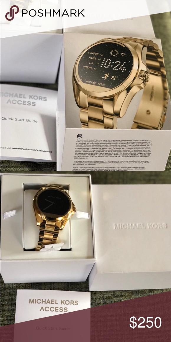 764780a198 Michael Kors Access Gold Smart Watch IPhone Michael Kors Access Gold Smart  Watch IPhone Michael Kors Accessories Watches