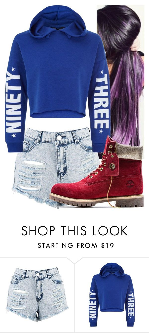 """""""Untitled #9658"""" by carmellahowyoudoin ❤ liked on Polyvore featuring Boohoo, New Look and Timberland"""