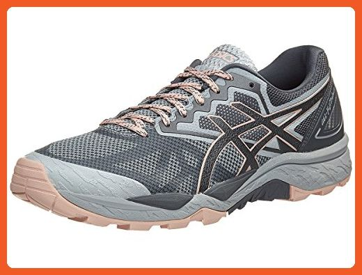 3f0fc5d6d3296 ASICS Women's Gel-Fujitrabuco 6 Running-Shoes, Mid Grey/Carbon ...