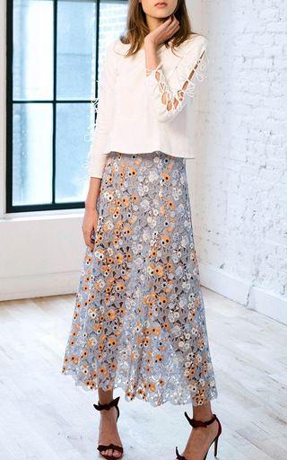 Bow Tie Sleeve Blouse by KATIE ERMILIO for Preorder on Moda Operandi